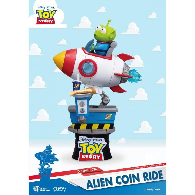 Toy Story D-Stage PVC Diorama Alien Coin Ride 15 cm