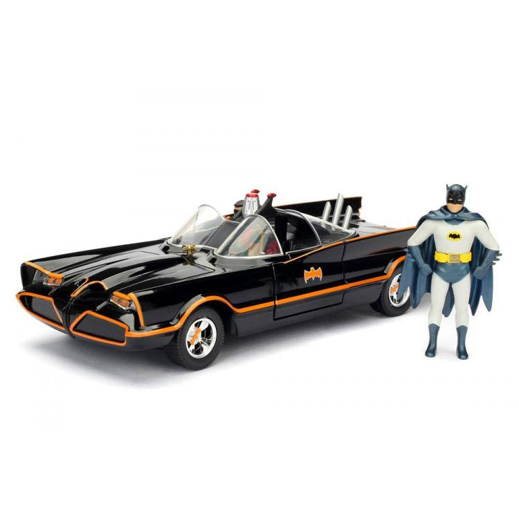 Batman Vehículo Build N\' Collect Diecast 1/24 1966 Classic TV Series Batmobile con 2 Figuras
