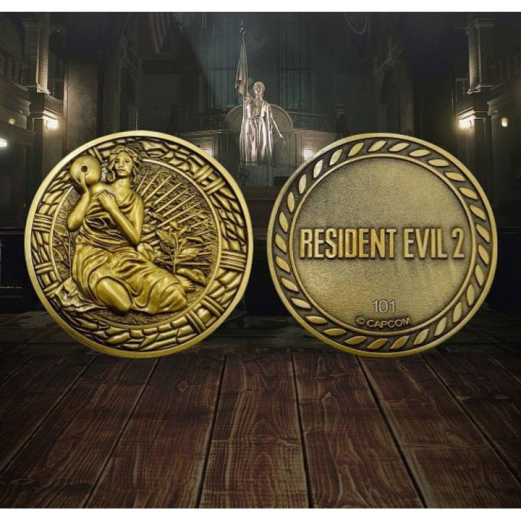 Resident Evil 2 Replica 1/1 Maiden Medallion
