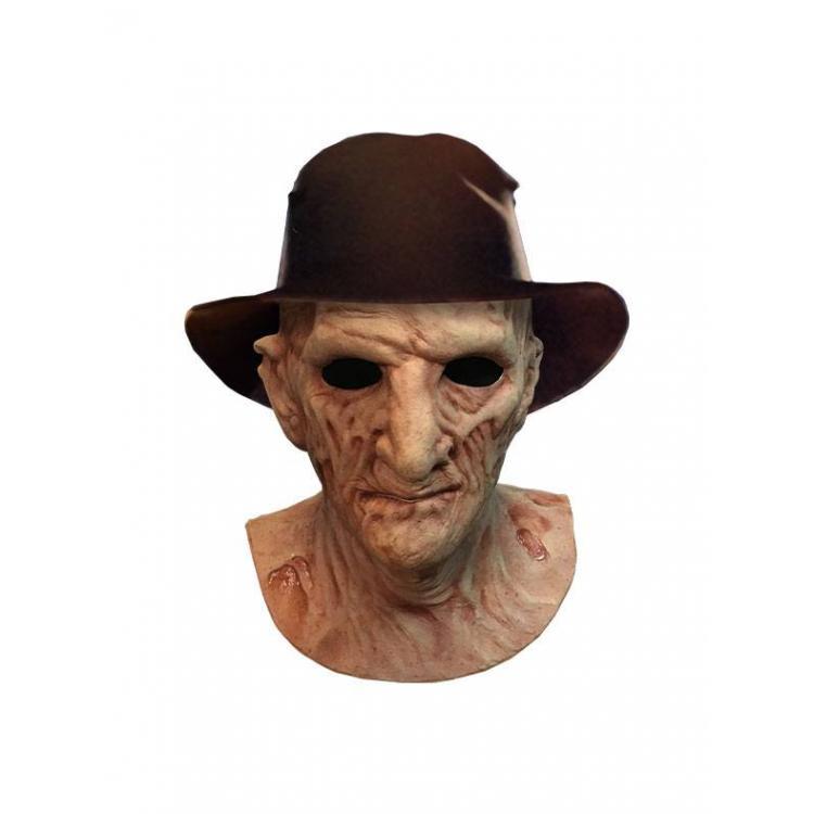 Pesadilla en Elm Street 2: La venganza de Freddy Máscara de látex Deluxe con sombrero Freddy Krueger