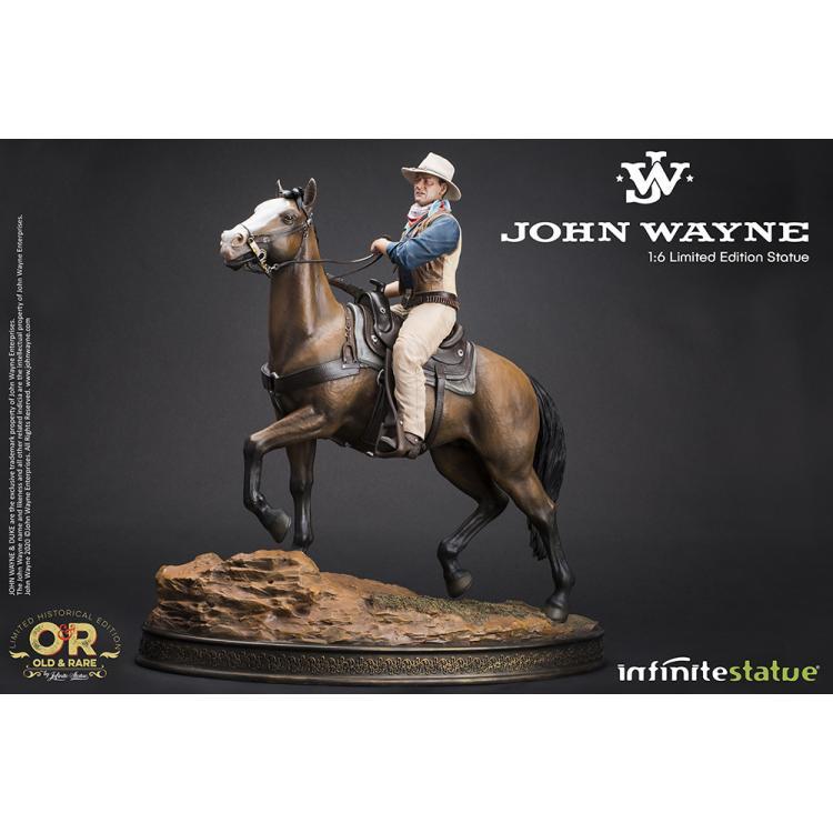 JOHN WAYNE A CABALLO  OLD&RARE 1/6 ESTATUA DE RESINA