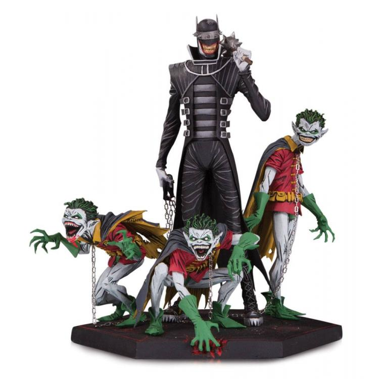 Dark Nights Metal Estatua Deluxe Batman Who Laughs & Robin Minions 21 cm