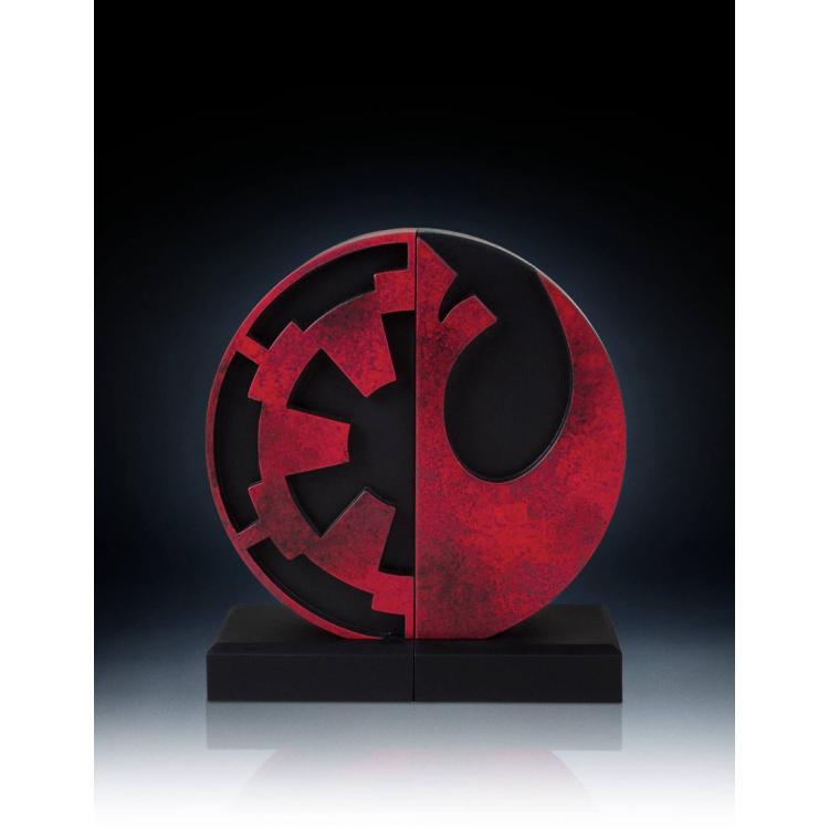 Star Wars Soportalibros Imperial/Rebel Logo 15 cm