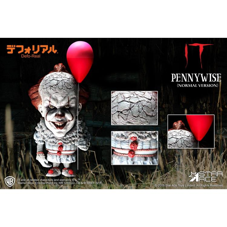 Stephen King\'s It 2017 Figura Defo-Real Series Pennywise Normal Version 15 cm