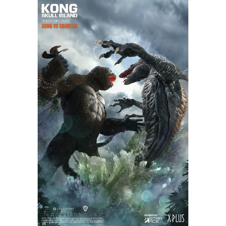 Kong Skull Island Deform Real Series Statues Kong vs Skull Crawler Deluxe Version 32 cm