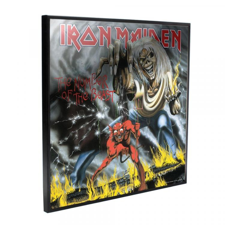 Iron Maiden Crystal Clear Picture Number of the Beast 32 x 32 cm