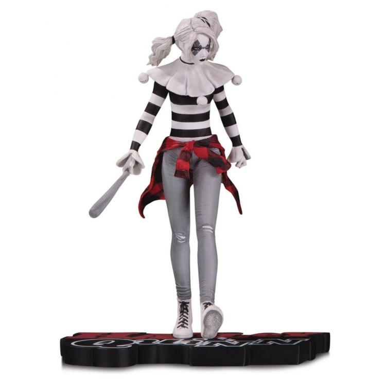 DC Comics Red, White & Black Estatua Harley Quinn by Steve Pugh 18 cm