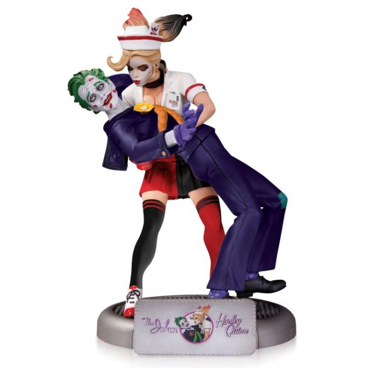 DC Comics Bombshells Estatua The Joker & Harley Quinn 2nd Edition 25 cm