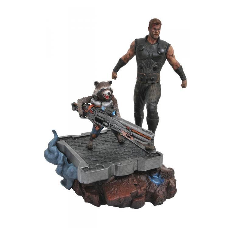 Vengadores Infinity War Estatua Marvel Premier Collection Thor & Rocket Raccoon 30 cm