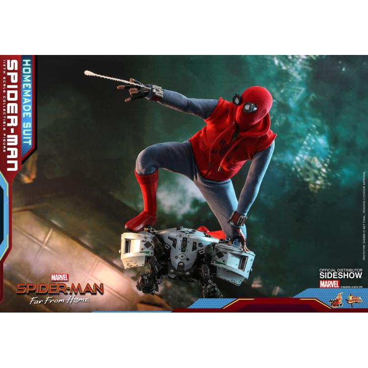 Spider-Man (Homemade Suit) Sixth Scale Figure by Hot Toys Movie Masterpiece Series - Spider-Man: Far From Home