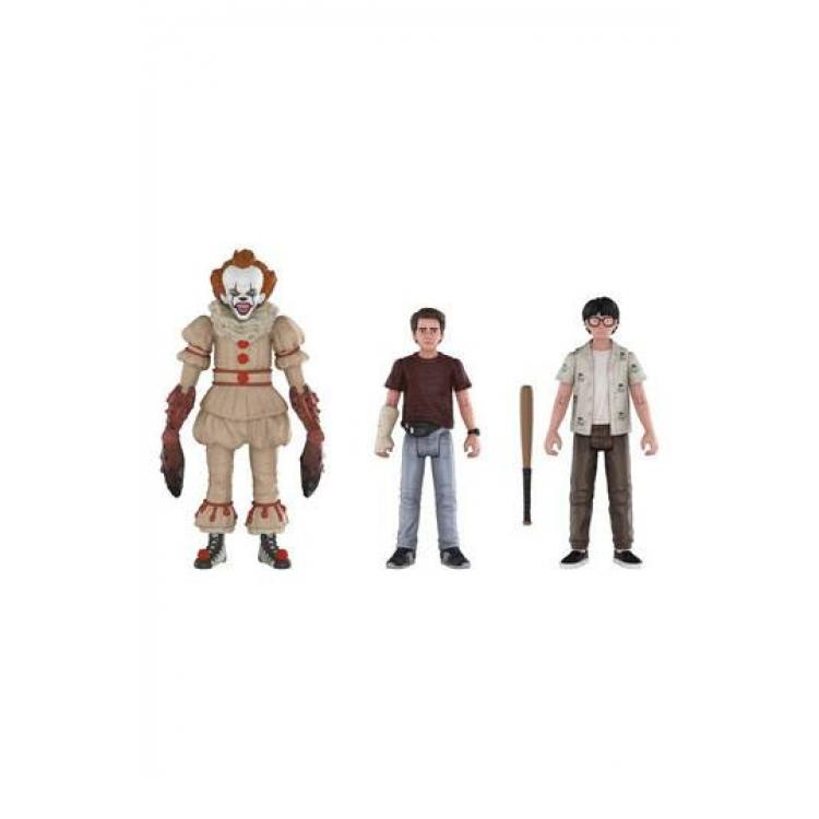 Stephen King\'s It 2017 Action Figures 3-Pack Pennywise, Richie, Eddie 10 cm