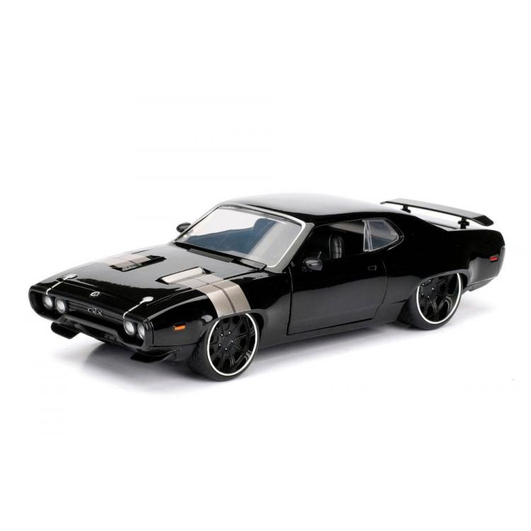 Fast & Furious 8 Diecast Model 1/24 Dom\'s 1972 Plymouth GTX