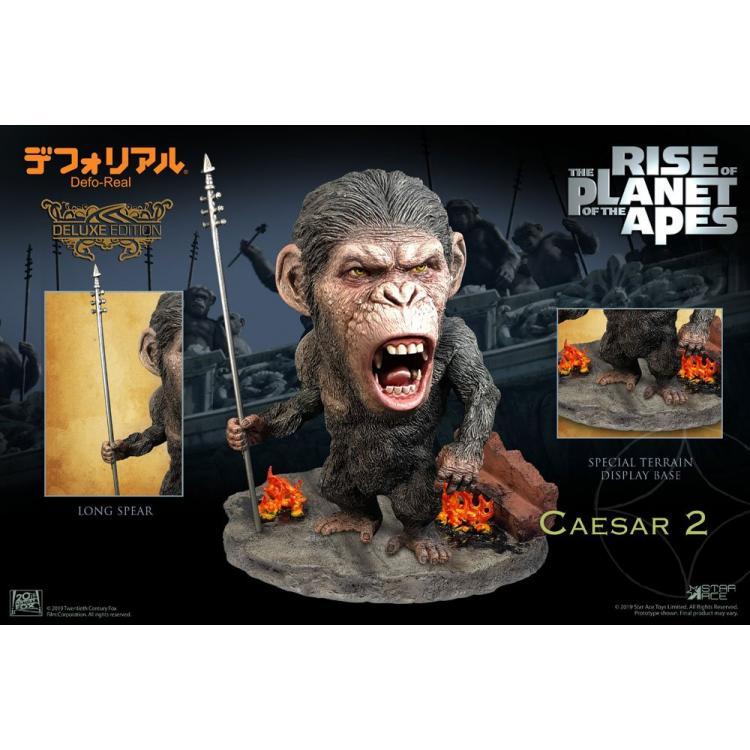 El origen del planeta de los simios Estatua Deform Real Series Soft Vinyl Caesar Spear Ver. Deluxe