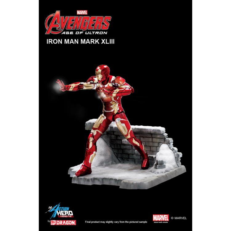 Vengadores La Era de Ultrón Estatua PVC Action Hero Vignette 1/9 Iron Man Mark XLIII 20 cm