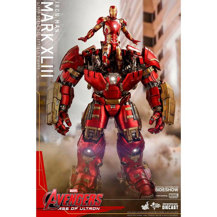 HOT TOYS DIECAST AVENGERS AGE OF ULTRON IRON MAN MARK XLIII 43 ( ROBERT DOWNEY JR. ) COLLECTIBLE FIGURE ( REISSUE ) 30CM