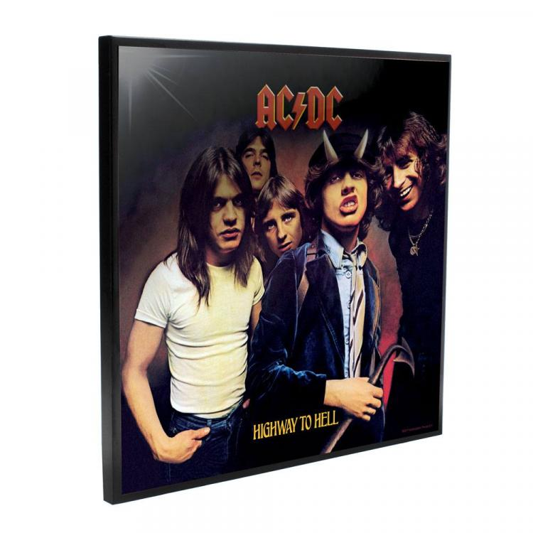 AC/DC Decoración Mural Crystal Clear Picture Highway to Hell 32 x 32 cm