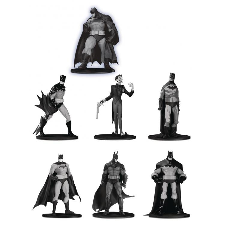 Batman Black & White Pack de 7 Minifiguras PVC Box Set #3 10 cm