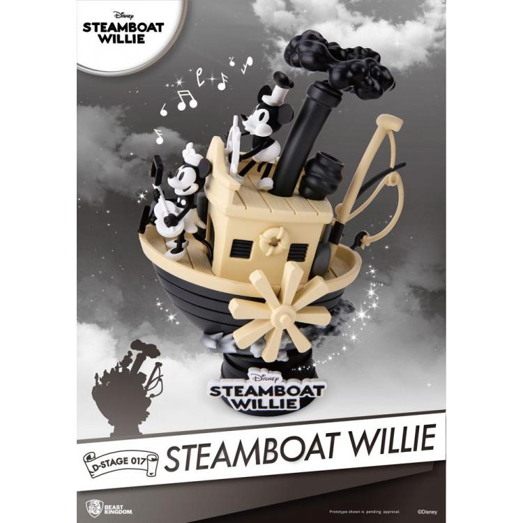 Steamboat Willie Diorama PVC D-Stage Mickey & Minnie 15 cm