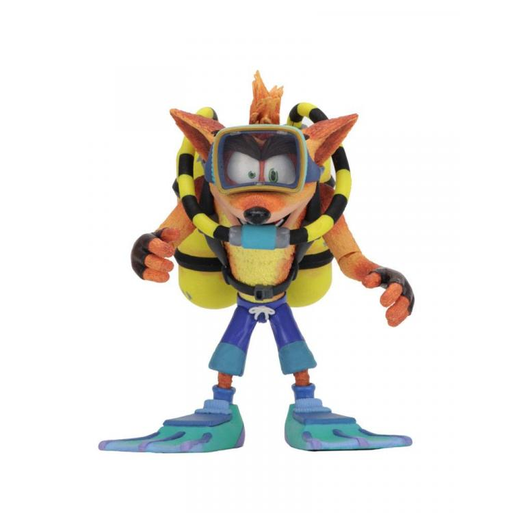 Crash Bandicoot Figura Deluxe Scuba Crash 14 cm