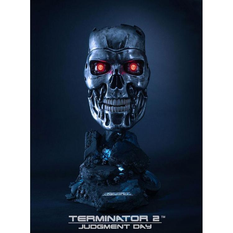 Terminator 2: Judgment Day Replica 1/1 T-800 Endoskeleton Mask 46 cm