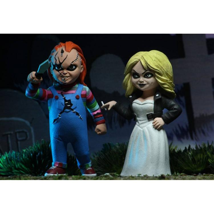 Bride of Chucky Toony Terrors Action Figure 2-Pack Chucky & Tiffany 15 cm