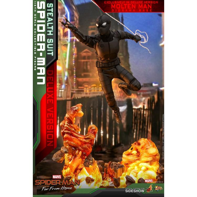 Spider-Man (Stealth Suit) Deluxe Version Sixth Scale Figure by Hot Toys Spider-Man: Far From Home - Movie Masterpiece Series