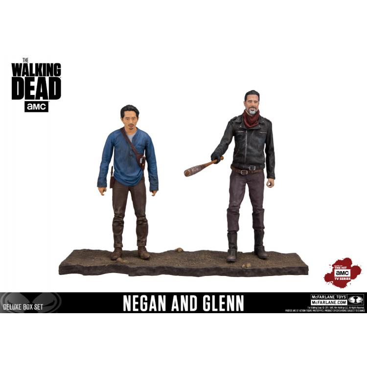 The Walking Dead TV Version Pack de 2 Figuras Negan & Glenn 13 cm