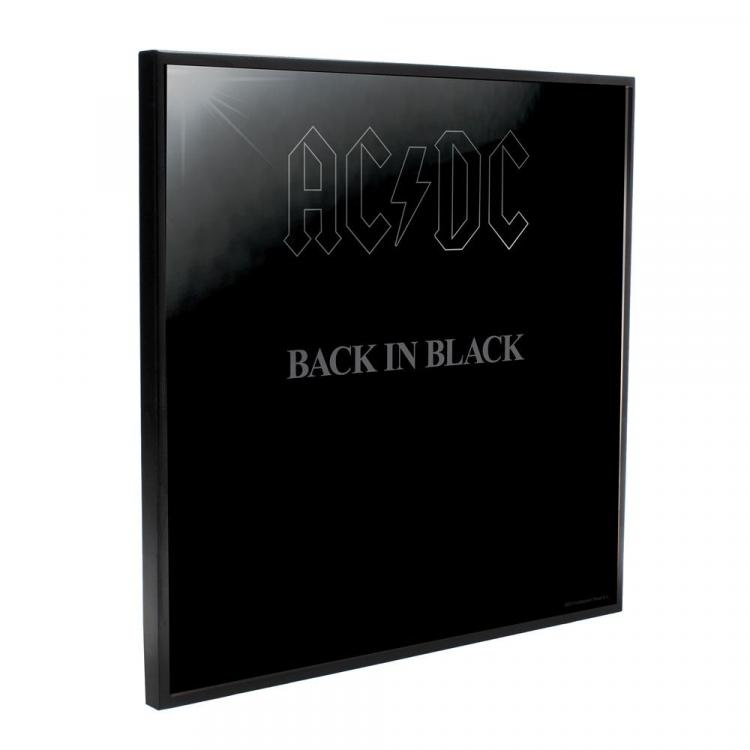 AC/DC Decoración Mural Crystal Clear Picture Back in Black 32 x 32 cm