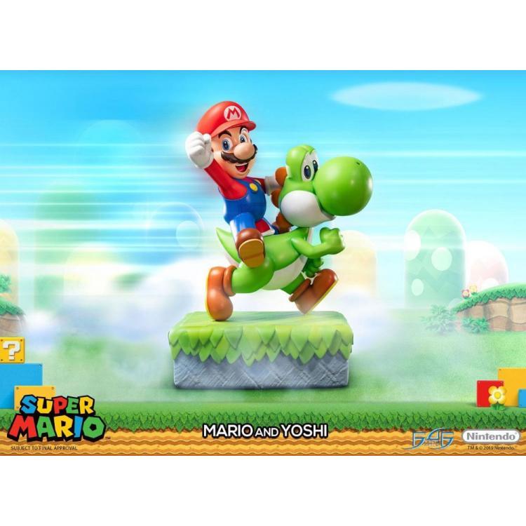Super Mario Statue Mario & Yoshi 48 cm